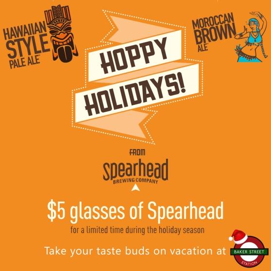 Spearhead $5 pints - Christmas BSS