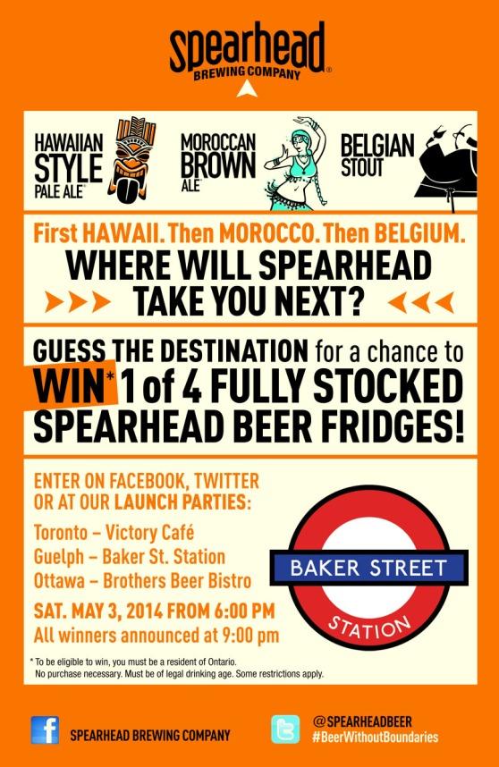 Spearhead beer Baker Street