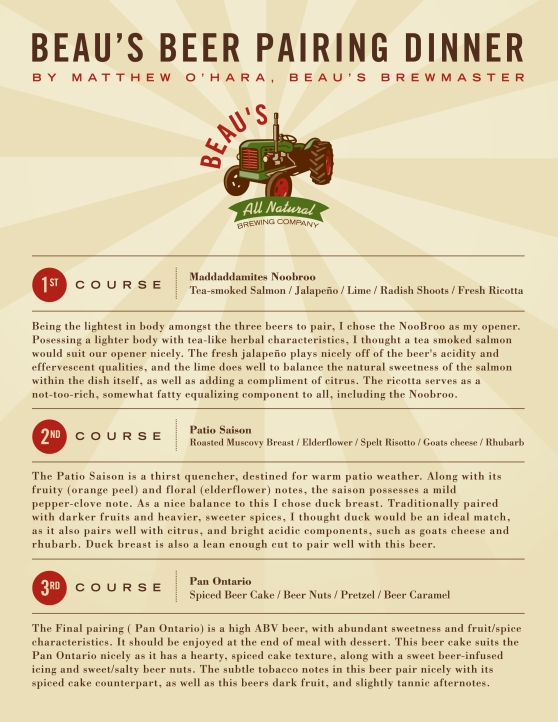 baker street beaus ocbweek menu
