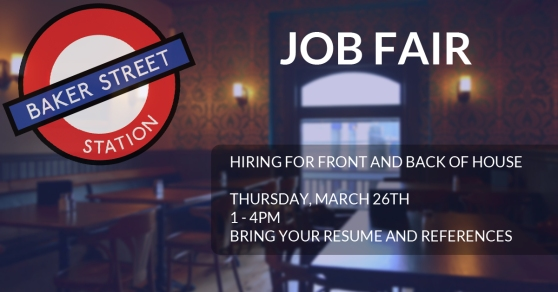 Baker Street Station Job Fair