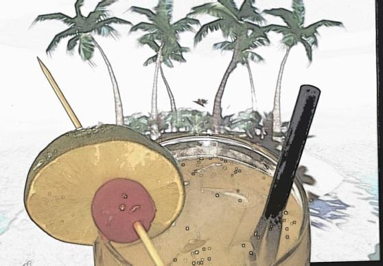 July Staff Cocktail - Kasha's Island Breeze